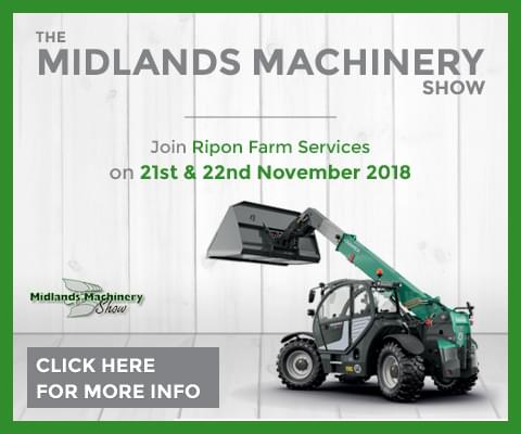 The Midlands Machinery Show. Join Ripon Farm Services on 21st & 22nd November 2018